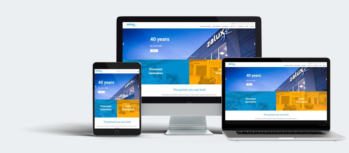 new ZALUX website